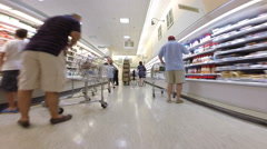 Walkthrough publix 3 Stock Footage