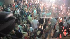 Crowd dancing in the club - stock footage