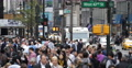 Ultra HD 4K NYC Busy Street Traffic Crowd People Crossing New York City Sidewalk 4k or 4k+ Resolution