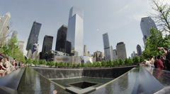 Freedom fountain one wide angle Stock Footage