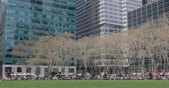 UltraHD 4K Corporate People Lifestyle Lunch Break One Bryant Park New York City Stock Footage
