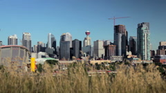 Calgary Downtown Summer Stock Footage