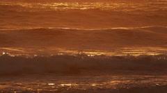Waves Crashing on Beach - stock footage
