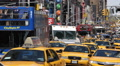 Crowded Road Car Traffic Jam Congestion Times Square Busy Street Avenue Commuter HD Footage