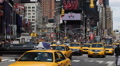 Crowded Rush Hour Cars Traffic Times Square New York City Manhattan Busy Street Footage