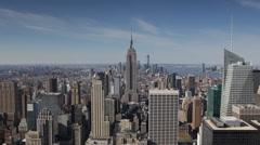Establishing Shot New York City NYC Skyline Aerial View Sunny Day Big Apple Roof Arkistovideo