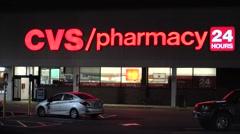 CVS Pharmacy storefront Stock Footage