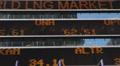NYC Times Square Ticker Board Dow Jones Nasdaq Stock Exchange Billboard Display Footage