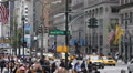Crowded Crossing Sidewalk Busy Streets New York City Manhattan Rush Hour Traffic Footage