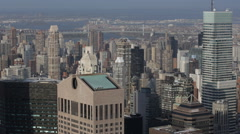 Business Towers Aerial View Building Midtown Manhattan New York City USA Stock Footage