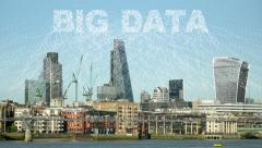 Big Data from a city. Stock Footage