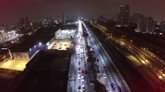 Stock Video Footage of Aerial view from Avenue Radial Leste in Sao Paulo, Brazil