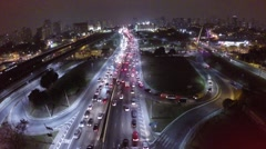 Aerial view from Avenue Radial Leste in Sao Paulo, Brazil Stock Footage