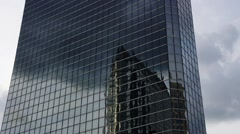 Reflection in office building - stock footage
