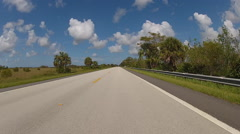 Driving on road in Florida, USA Stock Footage