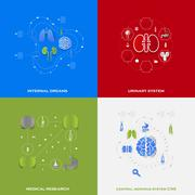 Set of medical icons - stock illustration