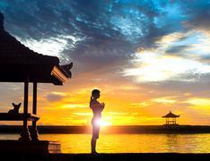 Yoga Meditation at Beach Kuvituskuvat