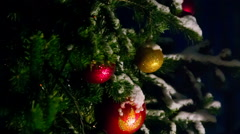 Christmas decorations on the christmas tree Stock Footage