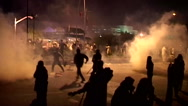Stock Video Footage of Police fire Live Bullets and Teargas on Peaceful Azadi March Protests
