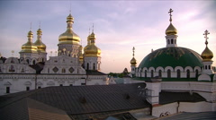 Domes of Kiev-Pechersk Lavra in Kiev. Stock Footage