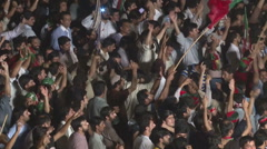 Pakistan Tehreek-E-Insaf supporters at Azadi March Protest in Islamabad Stock Footage