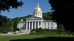 Vermont State House In Summertime Stock Footage