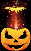 Exploding jack-o-lantern Stock Illustration