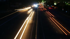 night road traffic. time lapse - stock footage