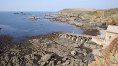 The old lifeboat station at the Lizard peninsula Cornwall England UK Stock Footage