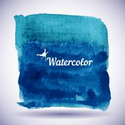 Watercolor design element for the realization - stock illustration