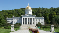 The Exterior Of The Vermont State House Montpelier Stock Footage