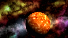 Sun and nebulae Stock Footage