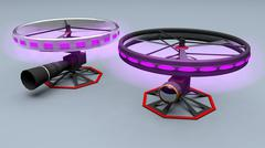 High-End Camera Drone System - animated 3D Model - 3D model