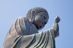 giant buddha complex - stock photo