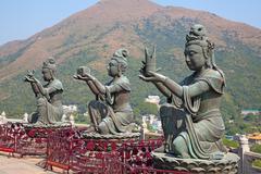 Giant buddha complex Stock Photos
