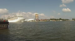 MSC Musica arrives in Amsterdam Stock Footage