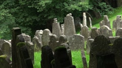 Old Jewish Cemetery in Floss, South Germany, Tracking Shot, Full-HD - stock footage