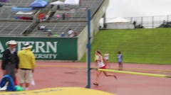 Teenage Girls at High Jump Event Stock Footage