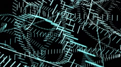 Cyan Lines Animated Background Stock Footage