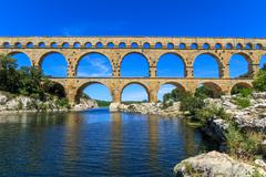 World France Aqueduct in Provence France Stock Photos