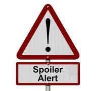 Spoiler alert caution sign Stock Illustration