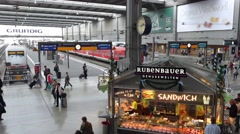 Train station in munich Stock Footage