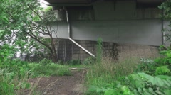 Zoom Out Under A Bridge With Green Forest Plants 4K Stock Footage