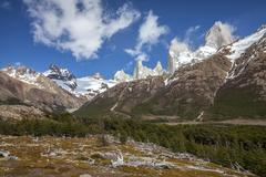 Fitz roy mountain range, argentina Stock Photos