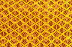 Gold design textile Stock Photos