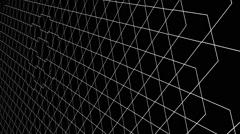 Vj Loops Wire Minimal Optical Illusion Black Background HD Stock Footage