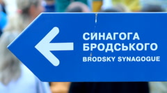 Urban signpost   Stock Footage