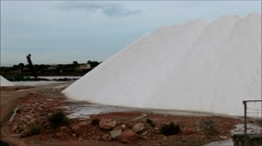 Salt Mountain, Ses Salines Mallorca Balearic Islands Spain Stock Footage