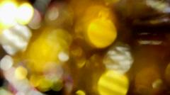 swirling light spots - stock footage