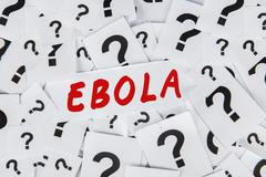 Question mark and an ebola word Kuvituskuvat